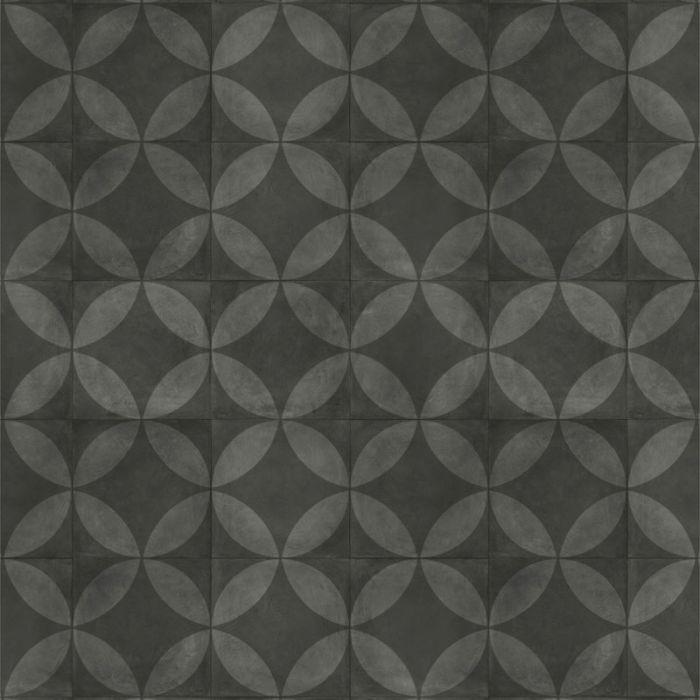 Almara - Tile Flower Black Tegel
