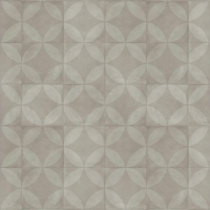 Almara - Tile Flower Light Grey Tegel